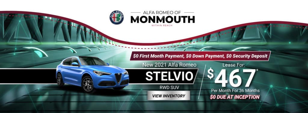 New 2021 Alfa Romeo Stelvio RWD SUV Auto Lease for $467* Per Month for 36 months