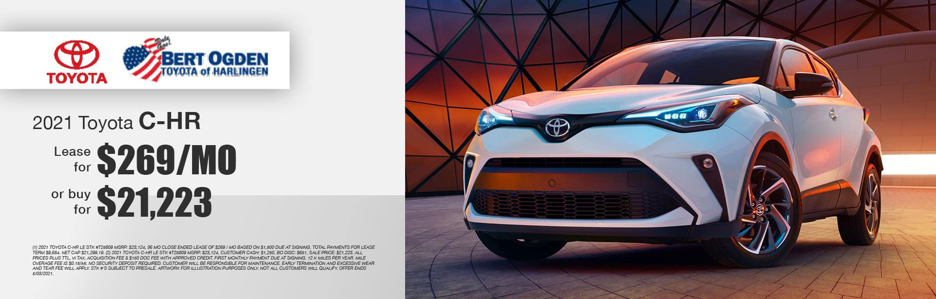 2021 Toyota C-HR LE Offer - Bert Ogden Toyota of Harlingen in Harlingen, Texas