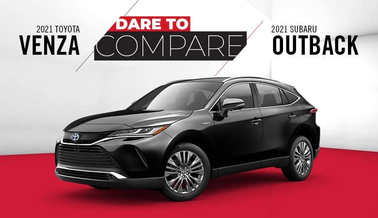 2021 Toyota Venza vs. 2021 Subaru Outback | Bert Ogden Toyota | Harlingen, TX