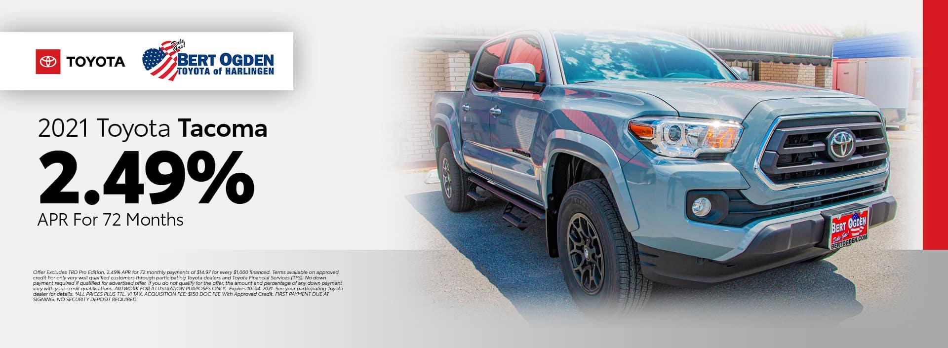 2021 Toyota Tacoma APR Offer | Bert Ogden Toyota in Harlingen, Texas