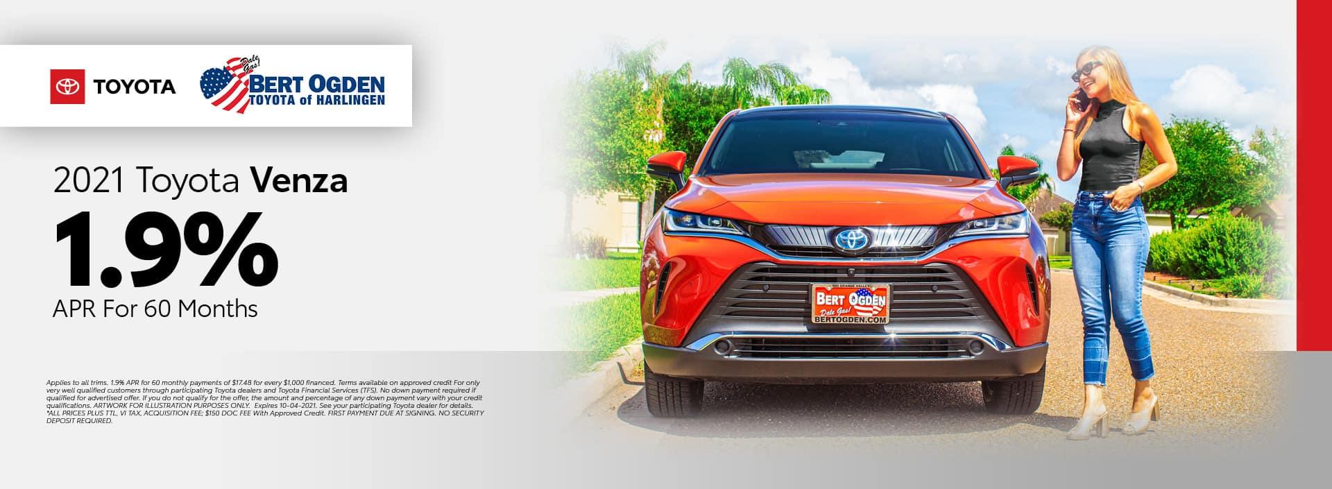 2021 Toyota Venza APR Offer | Bert Ogden Toyota in Harlingen, Texas