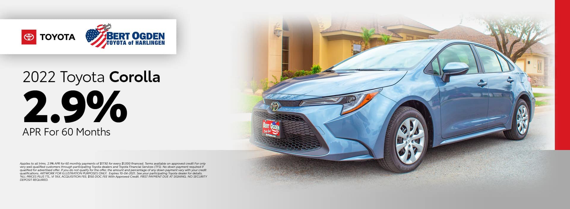 2022 Toyota Corolla APR Offer | Bert Ogden Toyota in Harlingen, Texas