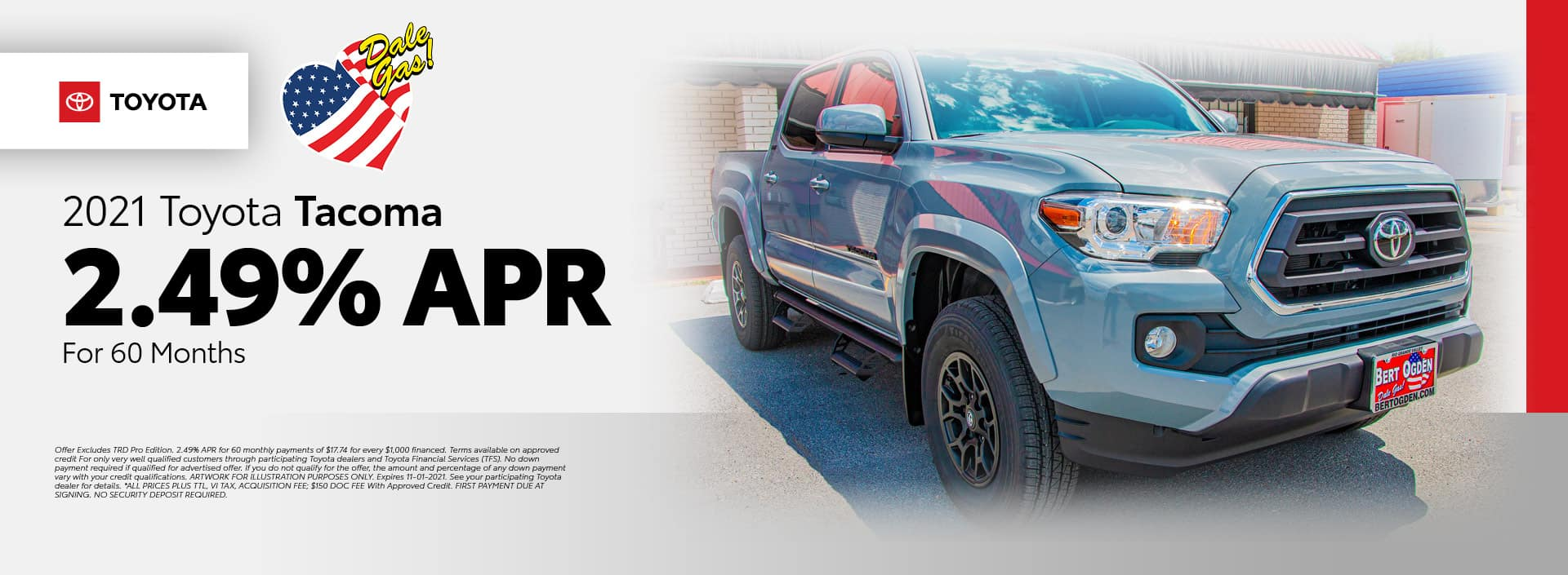 2021 Toyota Tacoma Offer - October 2021