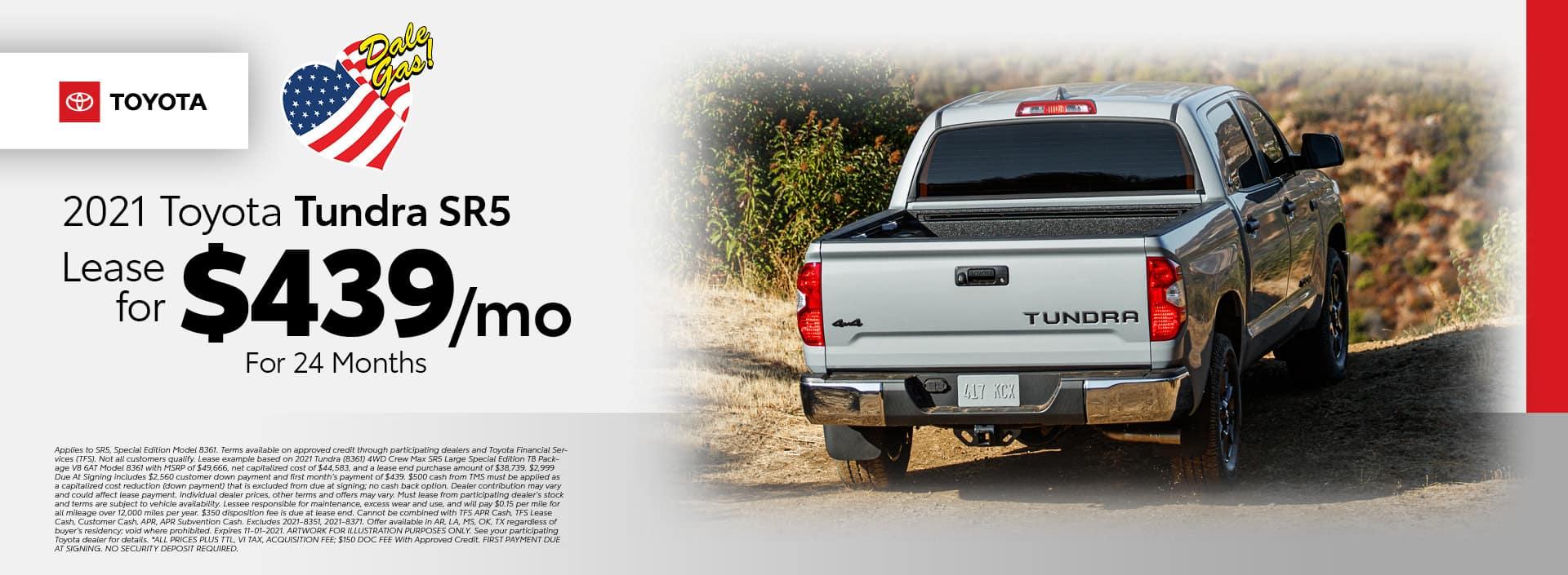 2021 Toyota Tundra SR5 Offer - October 2021