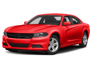 Angled view of the Dodge Charger