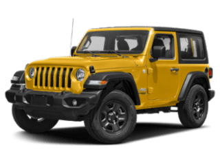 Angled view of the Jeep Wrangler