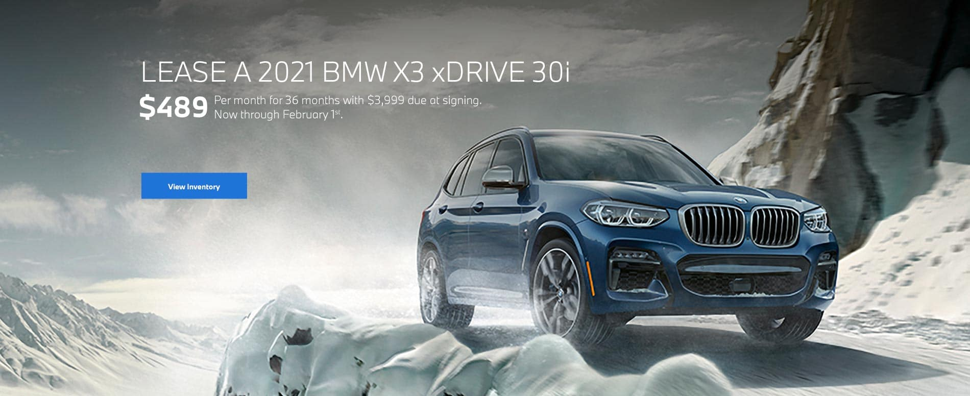2021 BMW X3 Lease Special