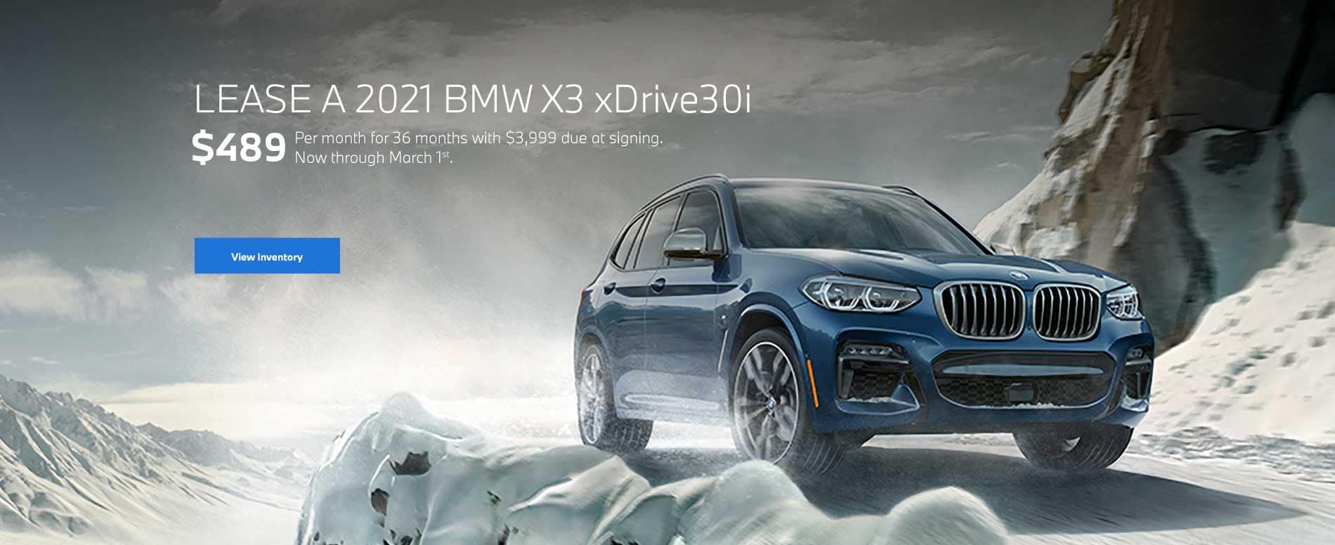 2021 BMW X3 Lease