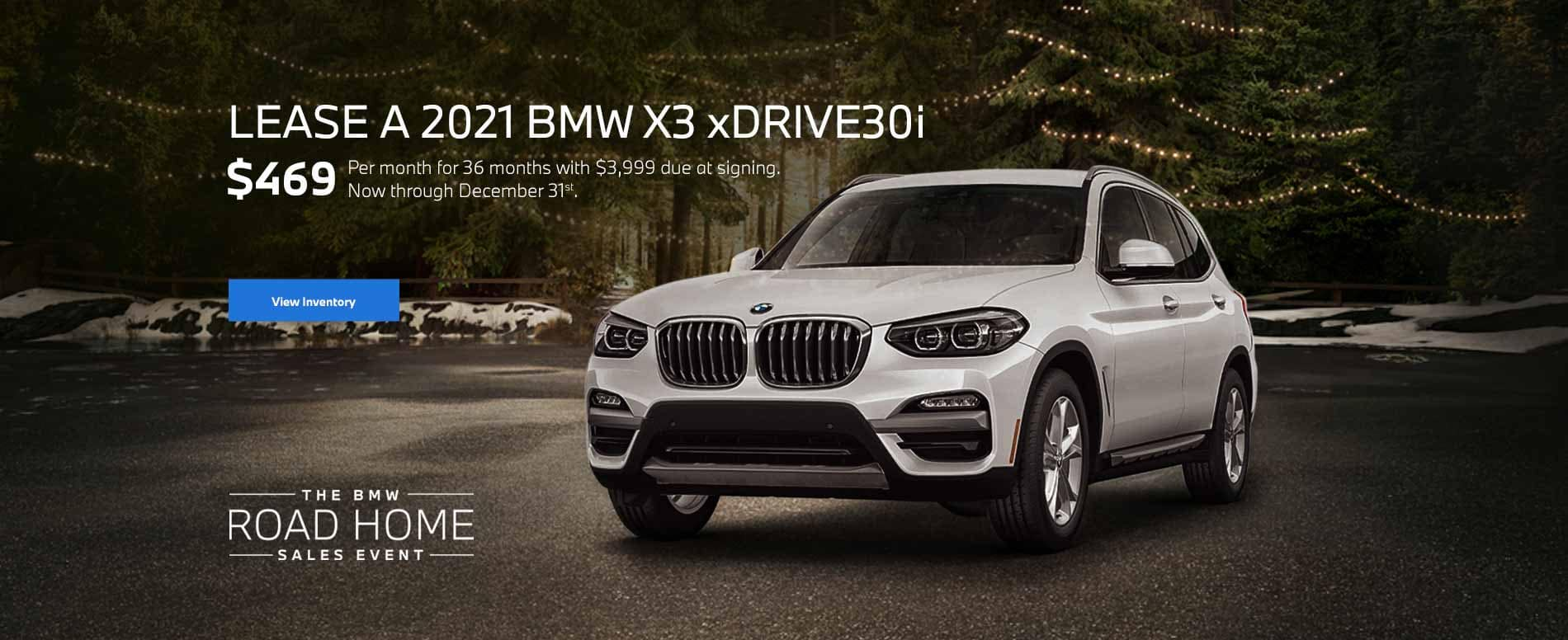 December 2021 BMW X3 Lease Special