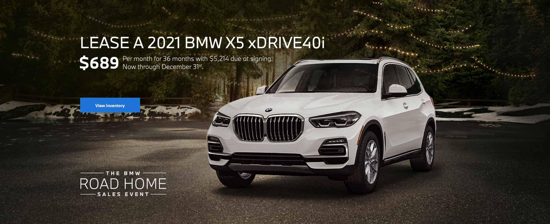 December 2021 BMW X5 Lease Special