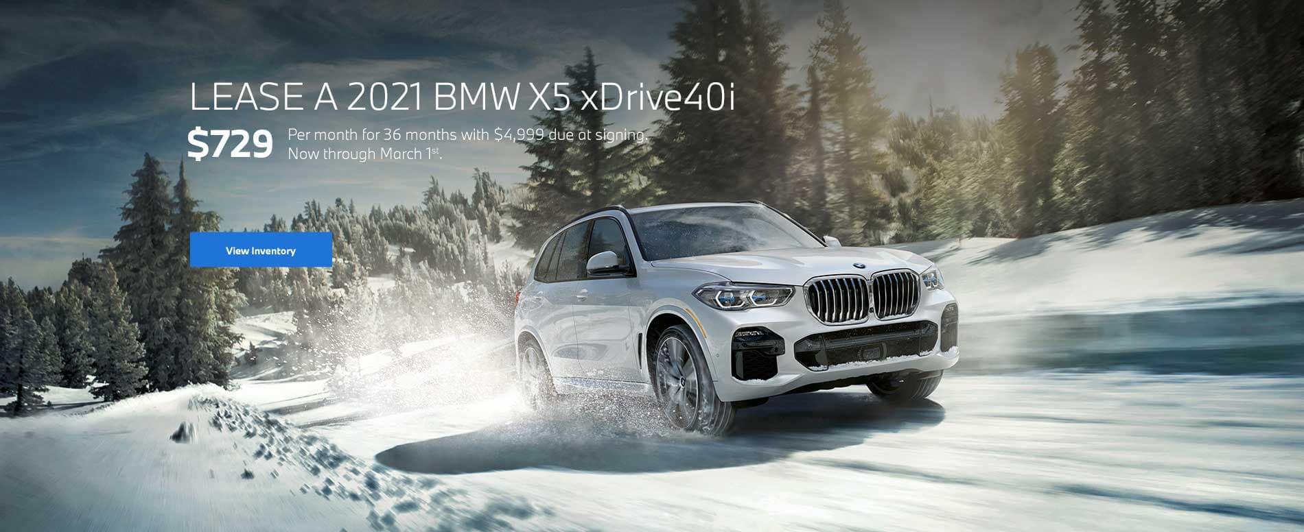 2021 BMW X5 Lease