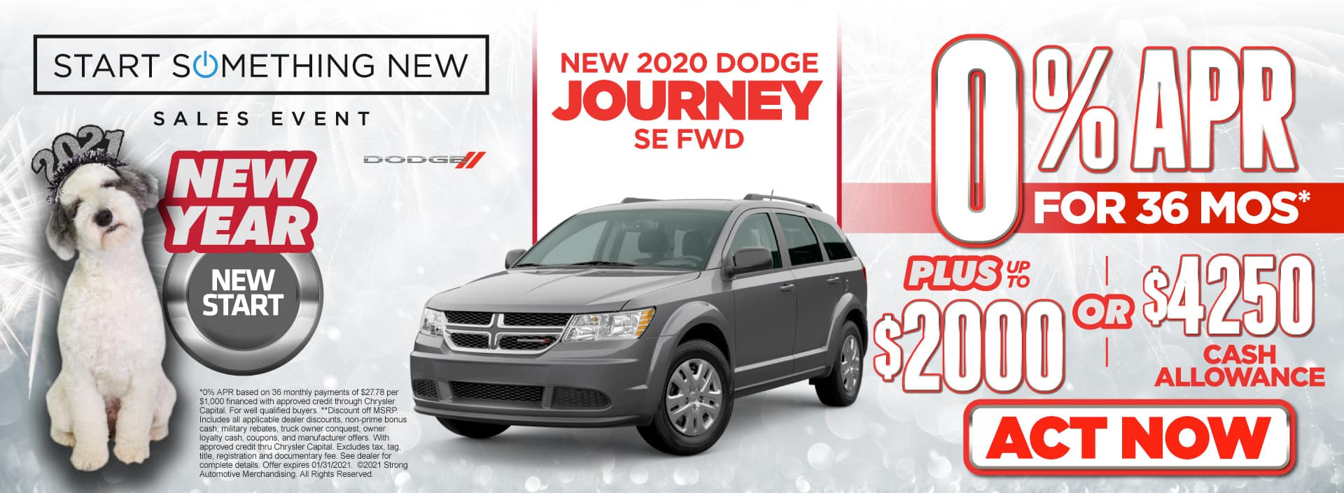 New 2020 Dodge Journey - 0% APR for 36 months