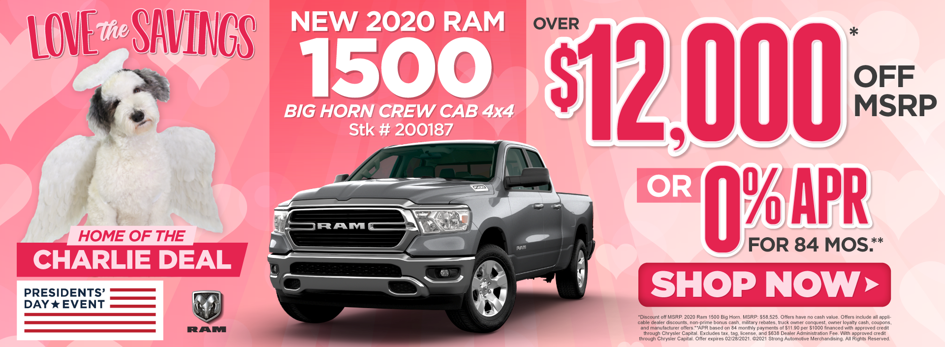 New 2020 Ram 1500 Big Horn - Up to $12,000 off msrp - Act Now