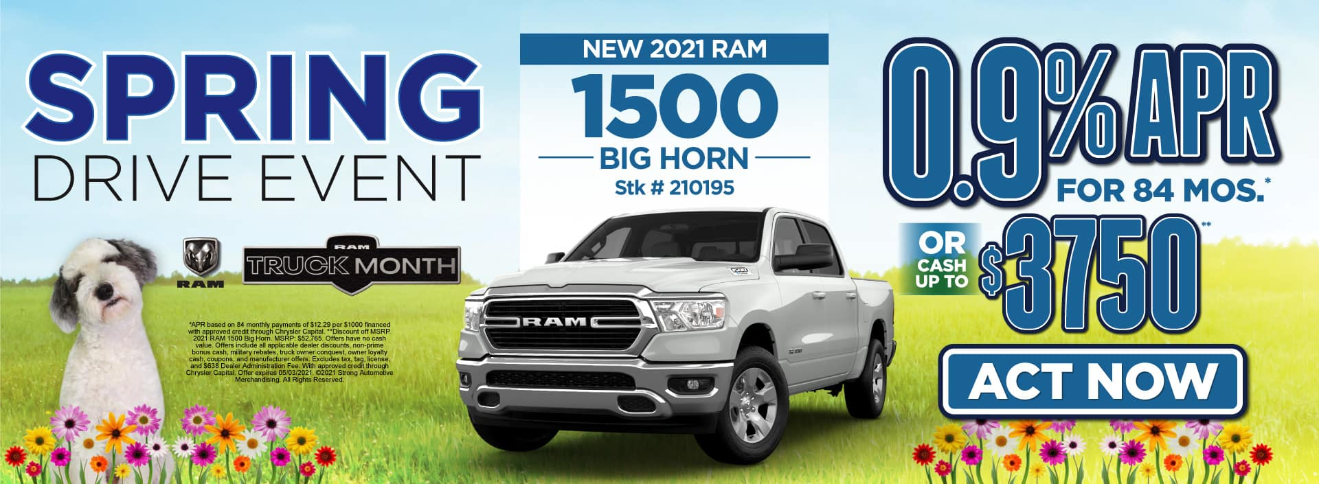 New 2021 Ram 1500 - 0.9% APR for 84 months - Act Now