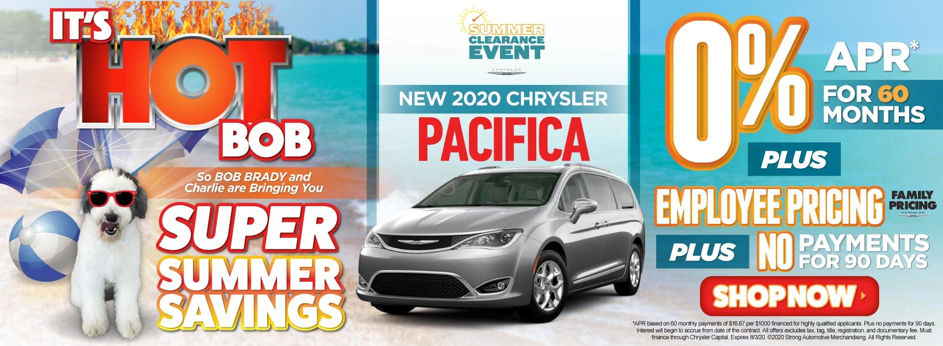New 2020 Chrysler Pacifica 0% APR for 60 Months - ACT NOW