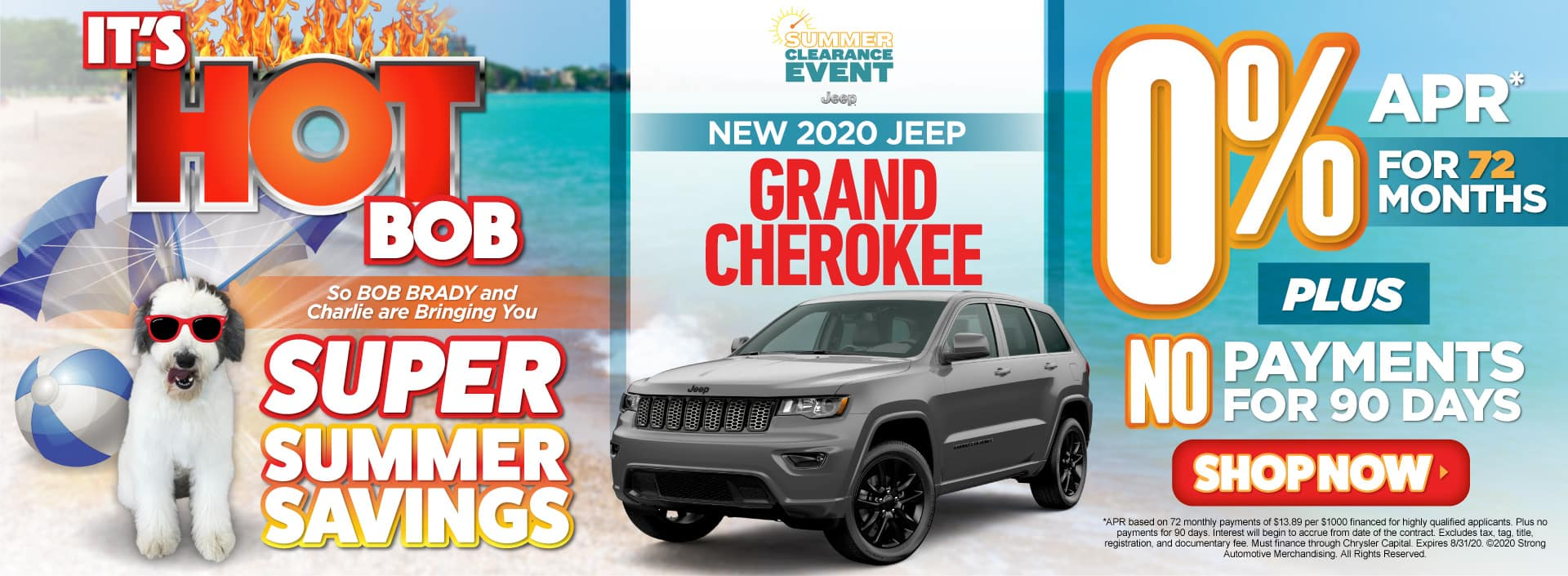 New 2020 Jeep Grand Cherokee - 0% apr for 72 months - Act Now