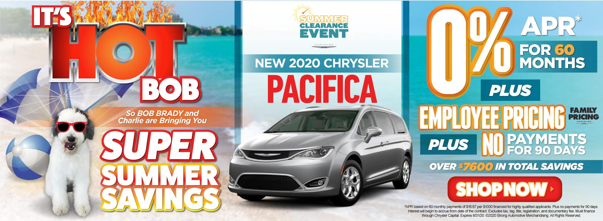New 2020 Chrysler Pacifica - 0% for 60 months - Act Now
