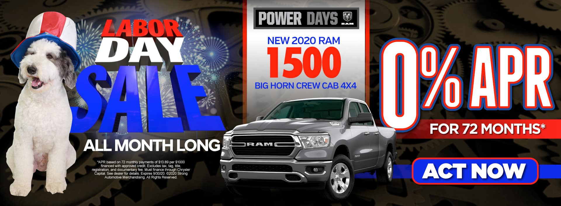 New 2020 Ram 1500 - 0% APR for up to 72 months - Act Now
