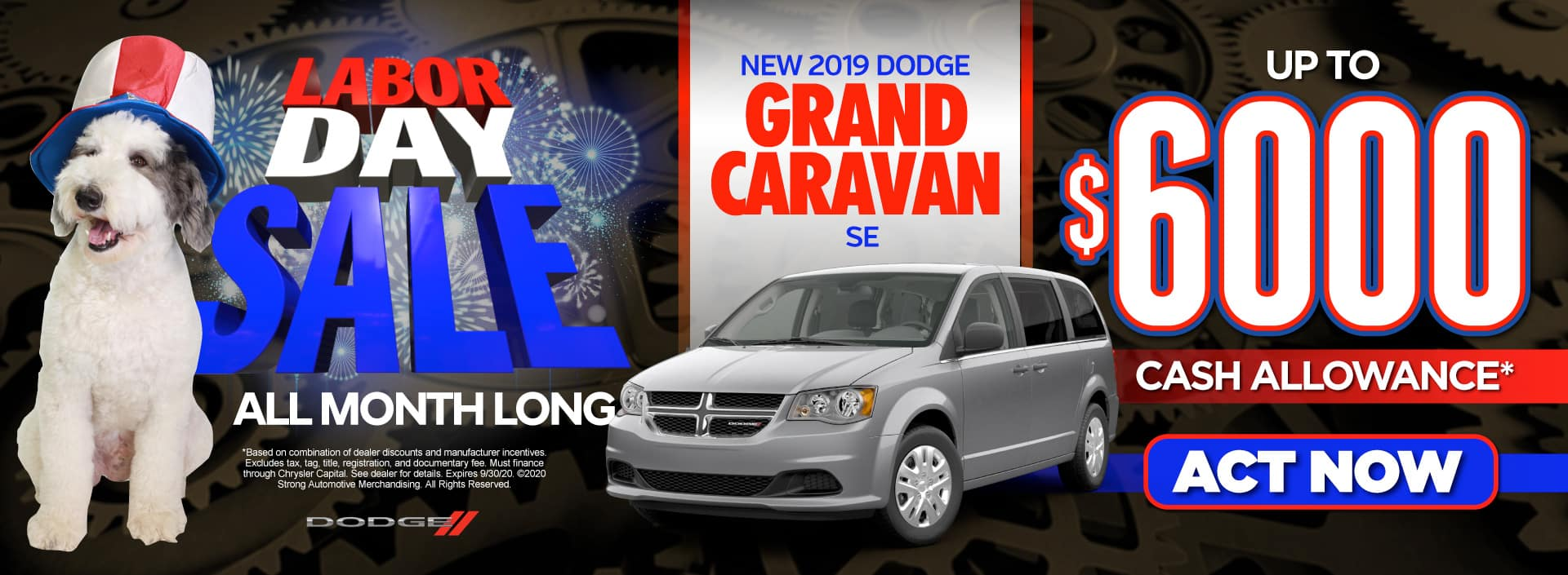 New 2019 Dodge Grand Caravan - Up to $6000 in savings - Act Now