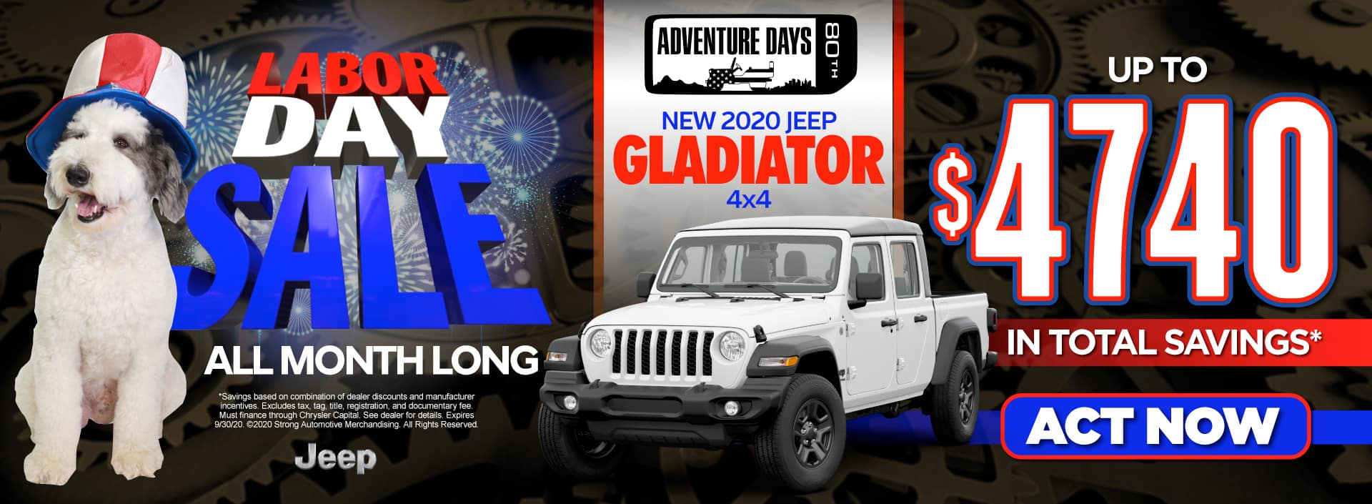 New 2020 Jeep Gladiator - Up to $4740 in savings - Act Now