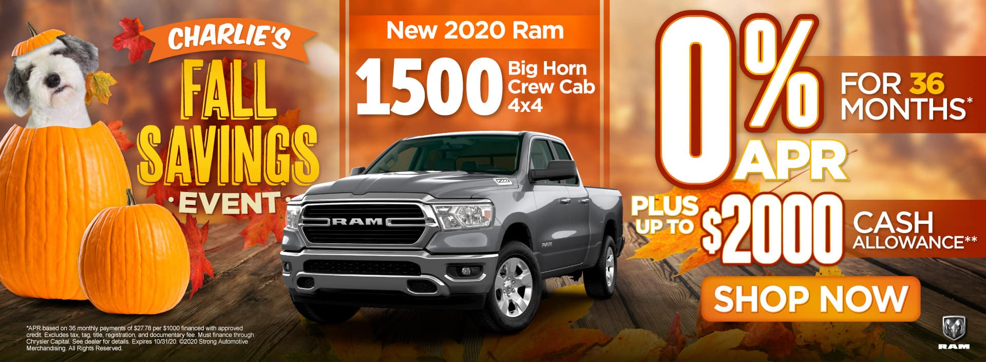 New 2020 Ram 1500 - 0% APR for 36 months - Shop Now