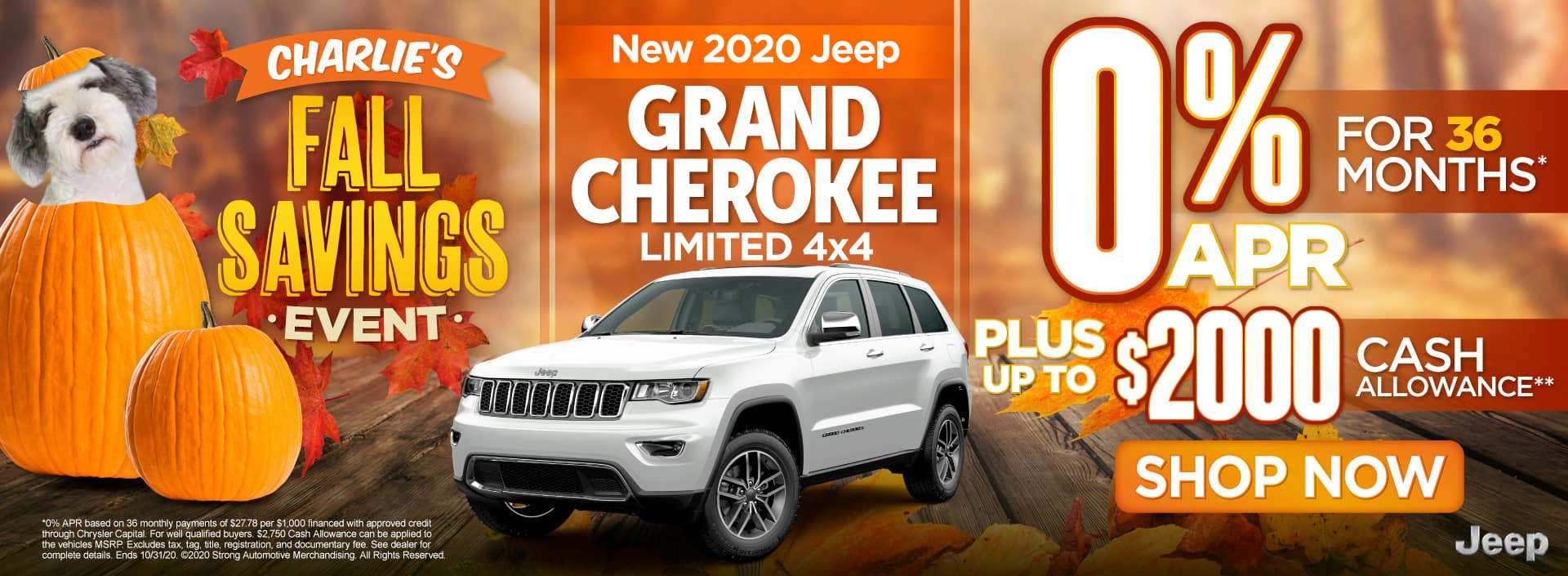 New 2020 Jeep Grand Cherokee - 0% APR for 36 months - Shop Now