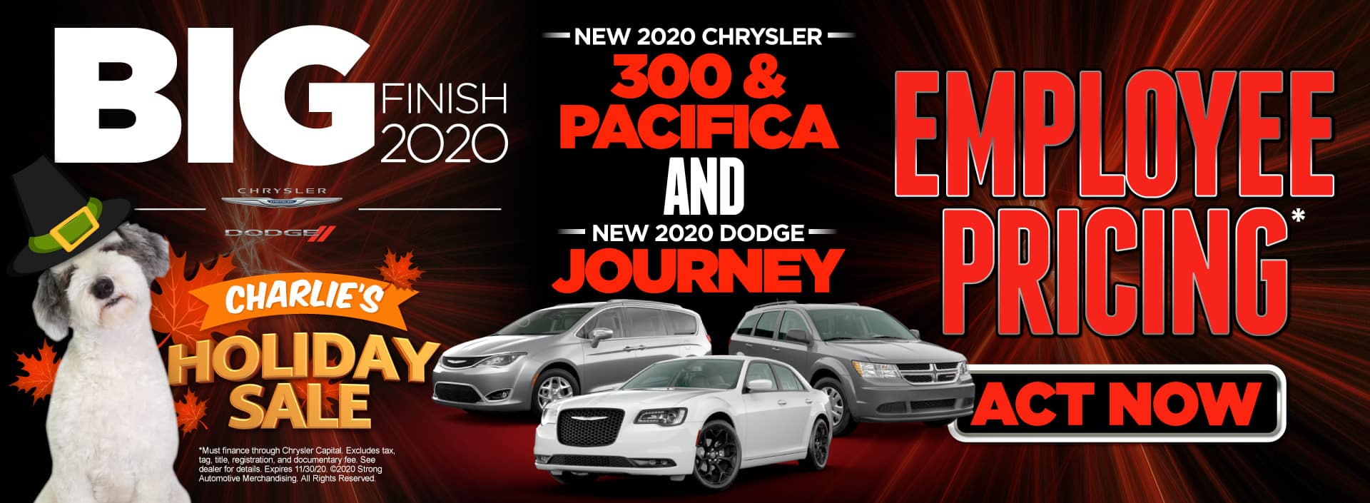 Employee Pricing on Chrysler 300s and Pacificas and Dodge Journeys | Act Now