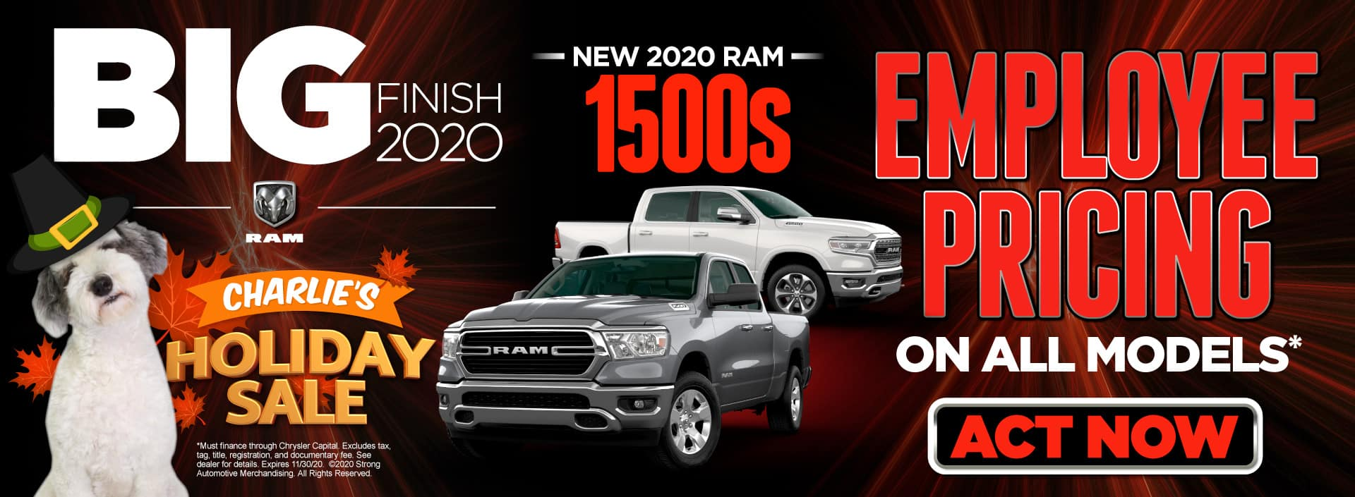 Employee Pricing on New 2020 Ram 1500s | Act now