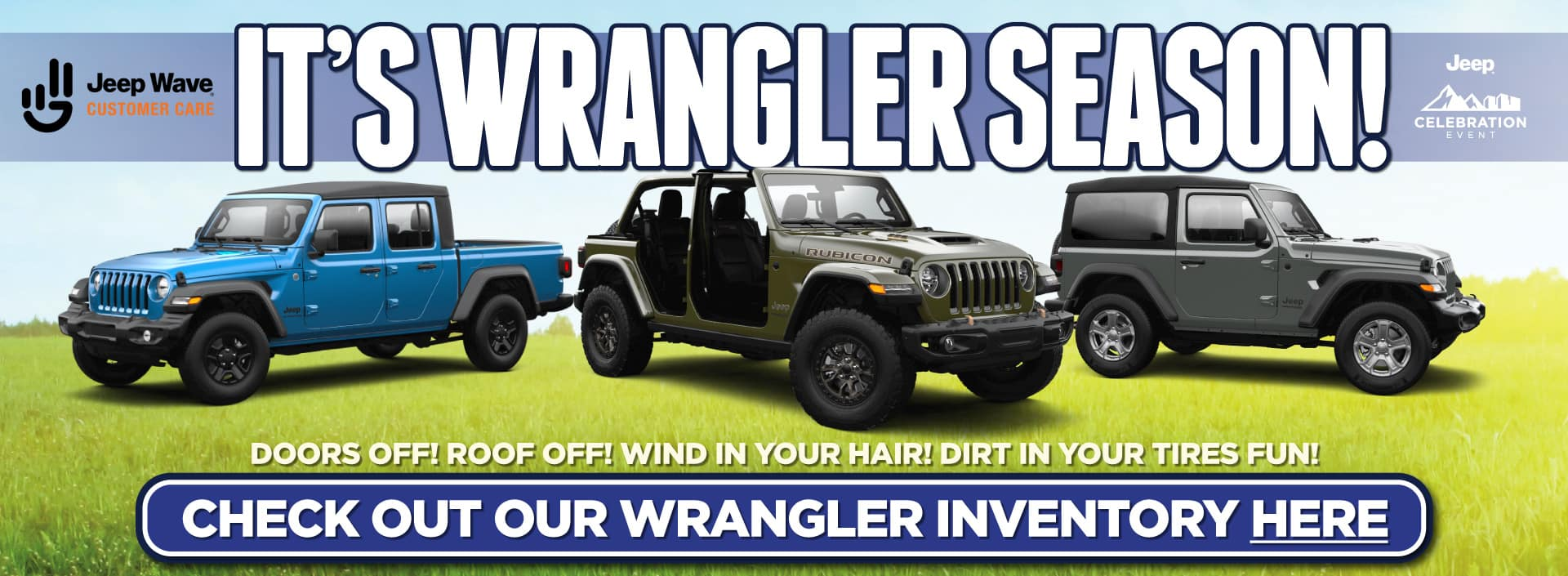 It's Wrangler Season! Check out our Wrangler Inventory Now!