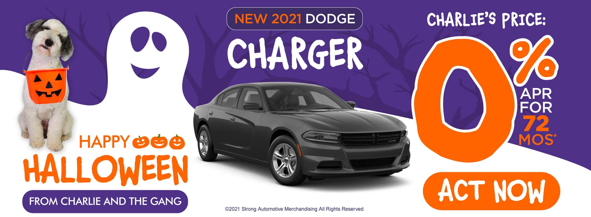 New 2021 Dodge Charger - 0% APR for 72 months - ACT NOW