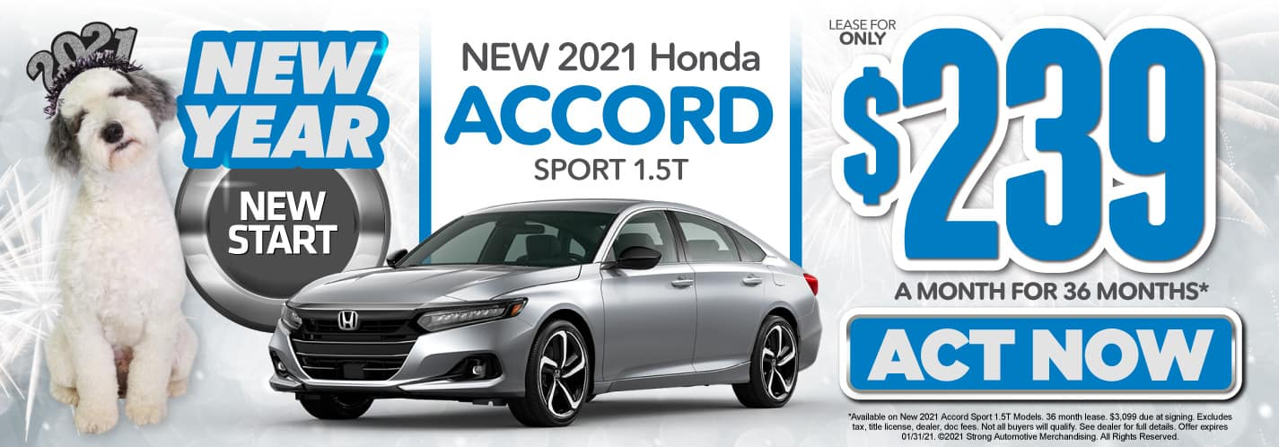 New 2021 Honda Accord Sport only $239/mo - ACT NOW