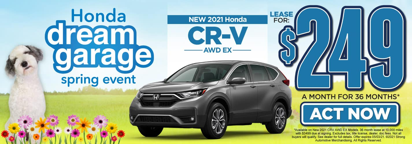 New 2021 Honda CR-V lease for $249 a month   Act Now