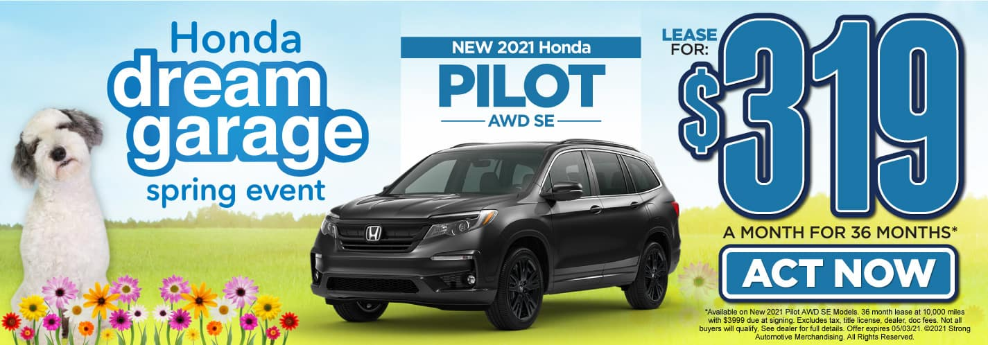 New 2021 Honda Pilot lease for $319 a month   Act Now
