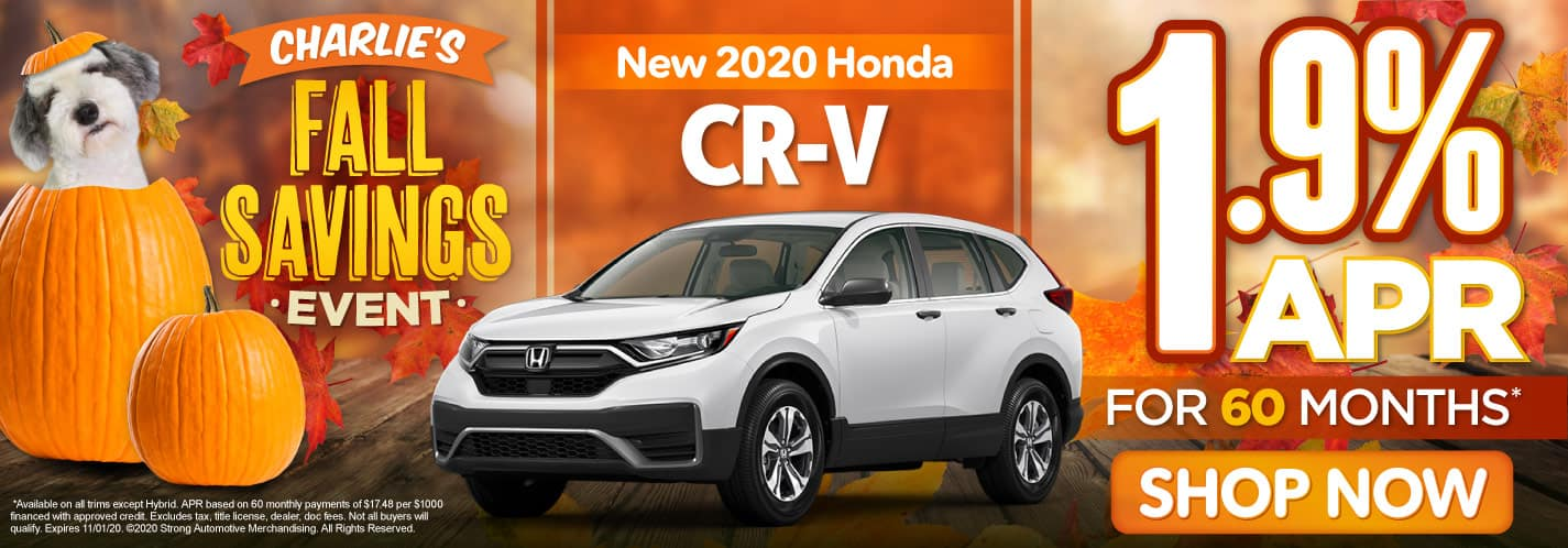 New 2020 CR-V - 1.9% APR for 60 months - Act Now