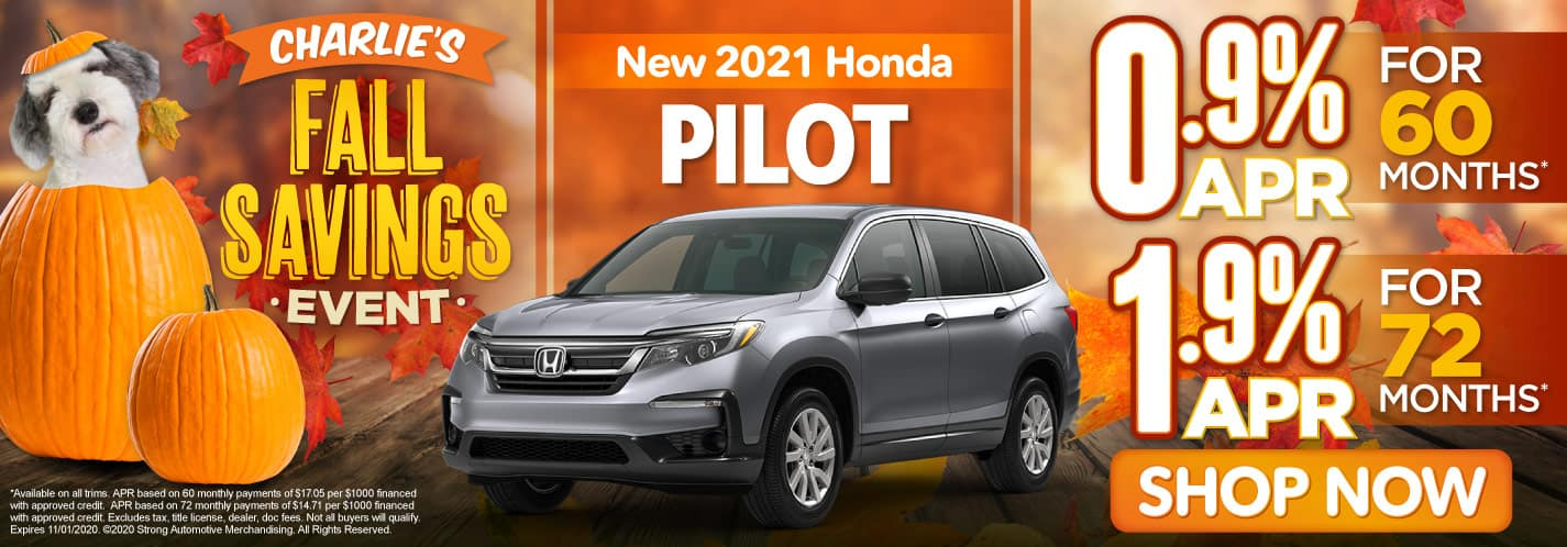 New 2021 Honda Pilot 0.9% APR or 1.9% APR - ACT NOW