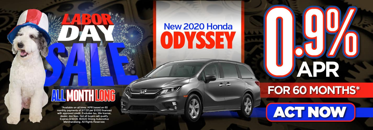 2020 Honda Odyssey. 0% APR for 60 months* Act Now.