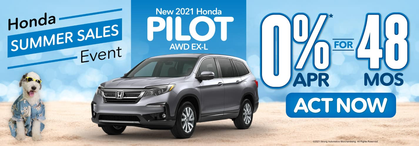 New 2021 Honda PIlot 0% APR for 48 Months - ACT NOW