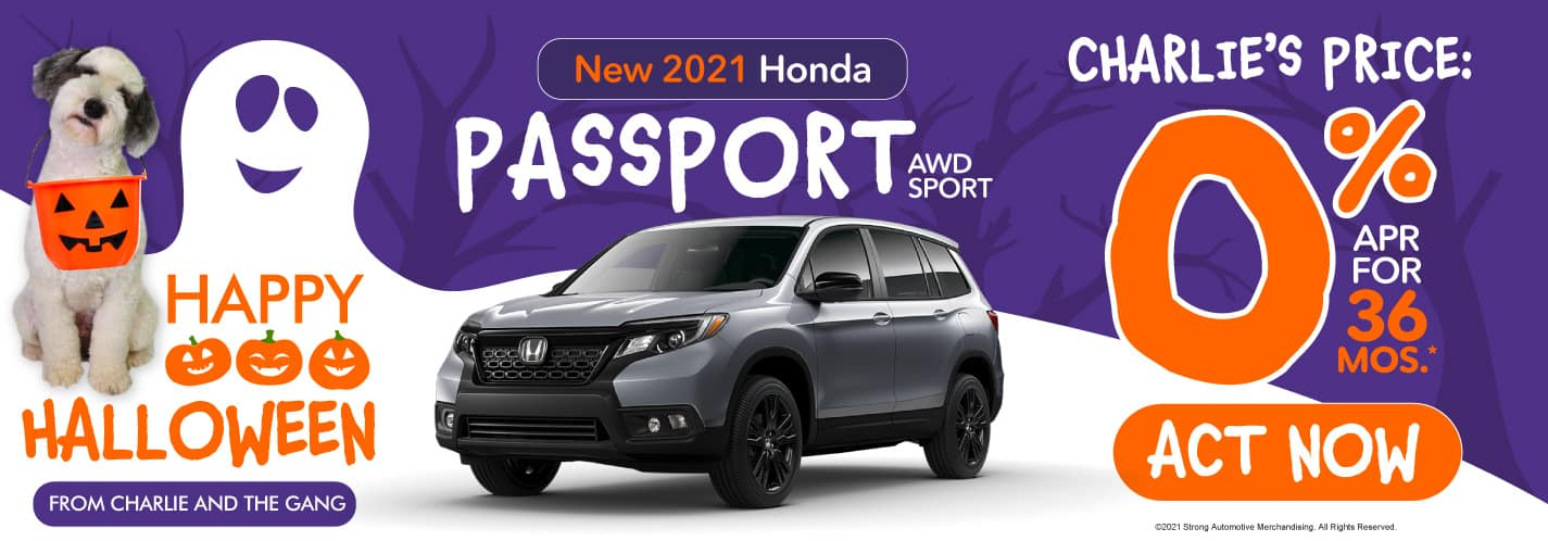 New 2021 Honda Passport - 0% APR for 36 months - Act Now