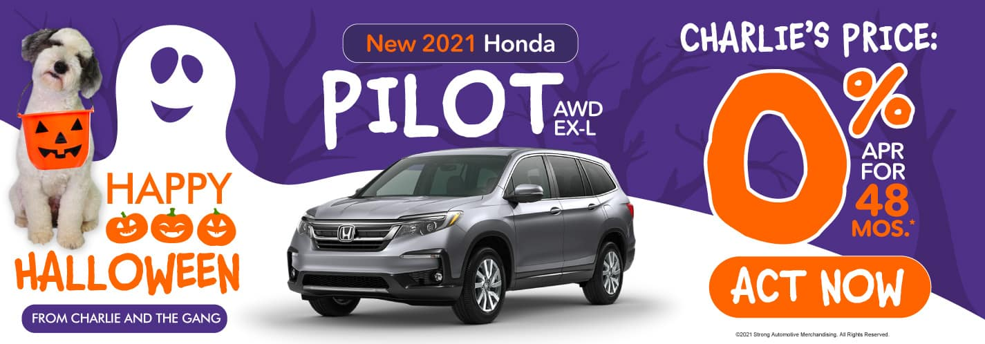 New 2021 Honda Pilot - 0% APR for 48 months - Act Now