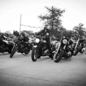 Cowboy Harley Davidson Party With Us Pic row of bikes