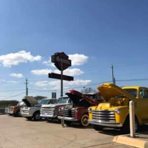 Cowboy Harley Davidson Party With Us Pic Row Old Trucks