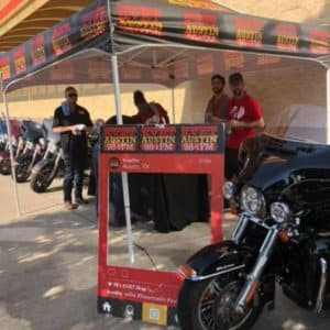 Cowboy Harley Davidson Party With Us Pic Stand