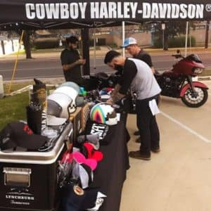 Cowboy Harley Davidson Party With Us Pic Harley-Davidson stand