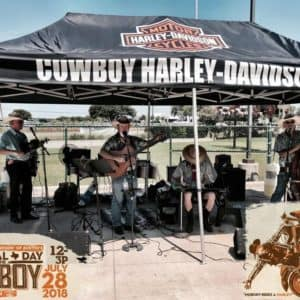 Cowboy Harley Davidson Party With Us Pic Music Stand