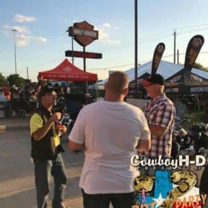 Cowboy Harley Davidson Party With Us Pic Men talking