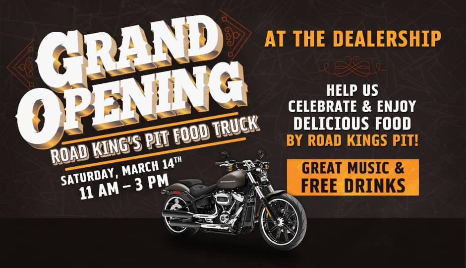 Grand opening road kings pit food truck