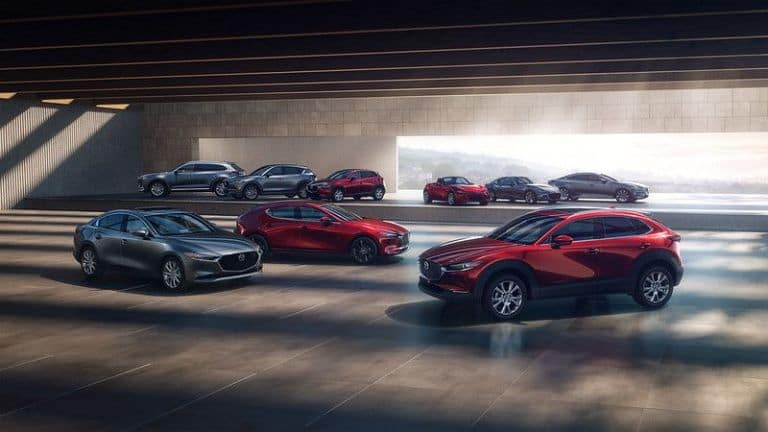 The Mazda model lineup, on sale now at El Dorado Mazda in McKinney, TX