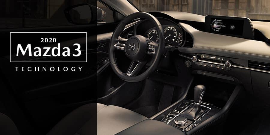 The interior of the 2020 Mazda3 - El Dorado Mazda in McKinney, TX