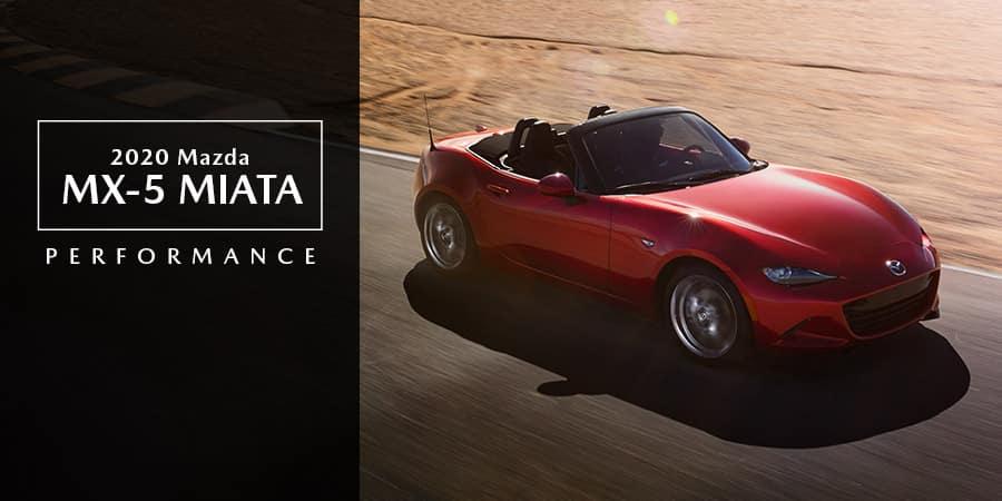 A red 2020 Mazda MX-5 Miata - El Dorado Mazda in McKinney, TX