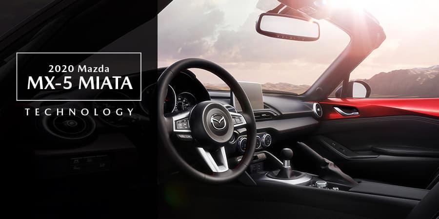 The interior of the 2020 Mazda MX-5 Miata - El Dorado Mazda in McKinney, TX
